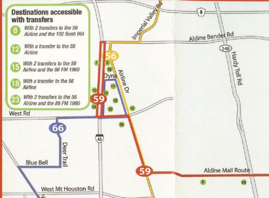 METRO extends Route 59 to stores on North Freeway